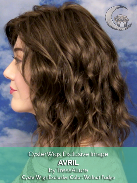 Avril by TressAllure CysterWigs Exclusive, Color: Walnut Fudge -- BEST DEAL!