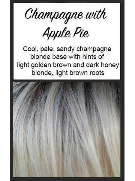 "Lace Front Mono Top Straight 14"" by BelleTress, Color: Champagne with Apple Pie -- BEST DEAL!"
