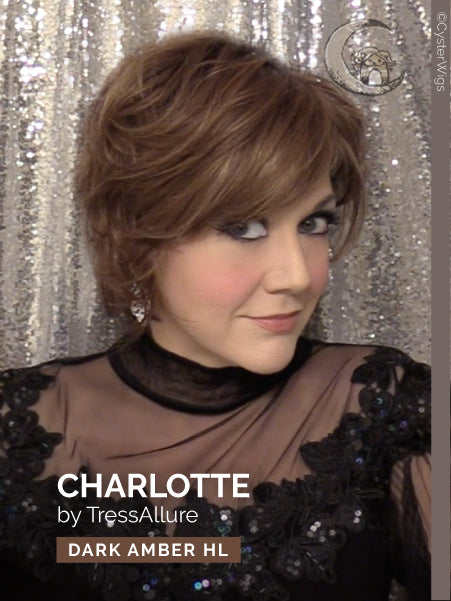 Charlotte by TressAllure, Color: Dark Amber HL