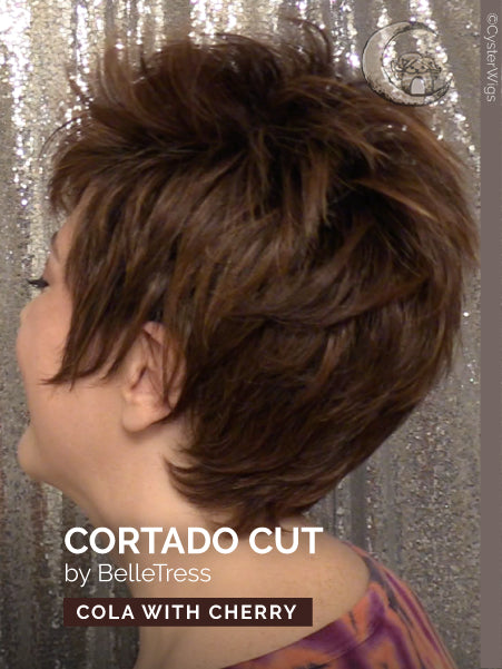 Cortado Cut by BelleTress, Color: Honey With Chai Latte