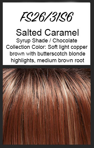 "Top Full 12"" Topper by Jon Renau, Color: FS26/31S6 (Salted Caramel)"