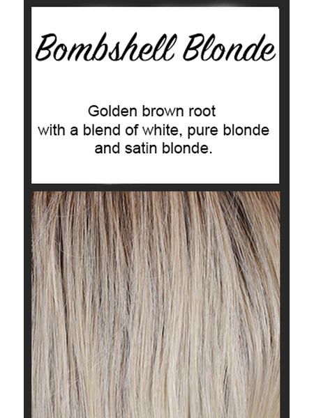 "Lace Front Mono Top Straight 14"" by BelleTress, Color: Bombshell Blonde"