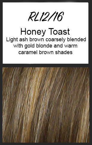 Top Billing Topper/Wiglet by Raquel Welch, Color: RL12/16 (Honey Toast)