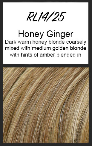 Top Billing Topper/Wiglet by Raquel Welch, Color: RL14/25 (Honey Ginger) -- BEST DEAL!