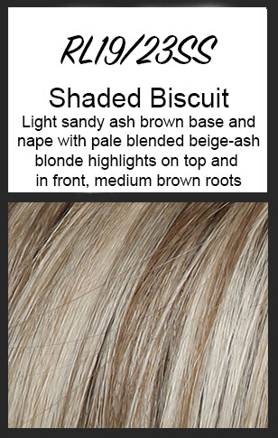 Top Billing Topper/Wiglet by Raquel Welch, Color: RL19/23SS (Shaded Biscuit)