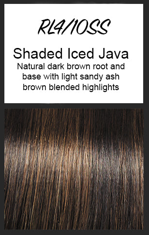 Top Billing Topper/Wiglet by Raquel Welch, Color: RL4/10SS (Shaded Iced Java)