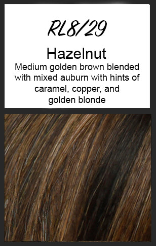 Top Billing Topper/Wiglet by Raquel Welch, Color: RL8/29 (Hazelnut)