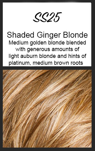 Sleek and Chic by HairDo, Color: SS25 (Shaded Ginger Blonde)