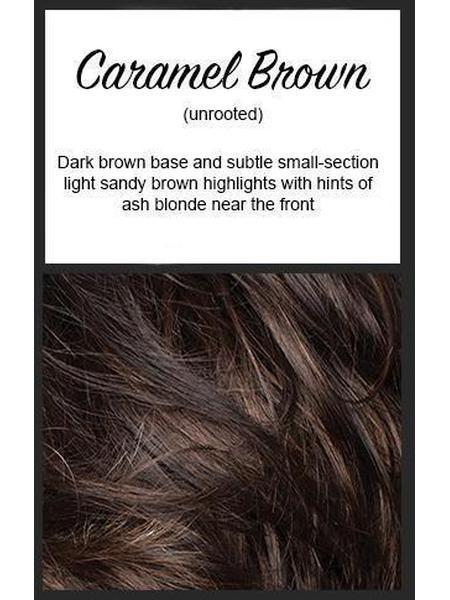 Adeline by Rene of Paris Hi Fashion, Color: Caramel Brown -- BEST DEAL!