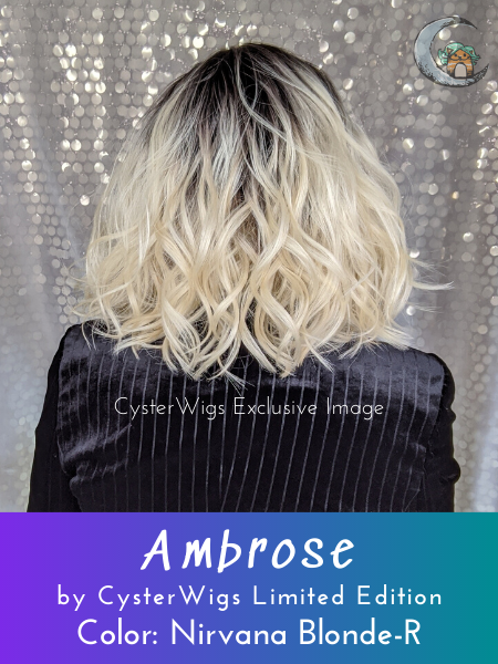 Ambrose by CysterWigs Limited Collection in color: Nirvana Blonde-R
