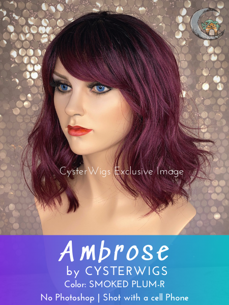Ambrose by CysterWigs Limited Collection, Color: Smoked Plum-R -- BEST DEAL!