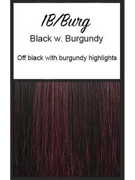 Angled Pixie by TressAllure, Color: 1B/Burg (Black with Burgundy)
