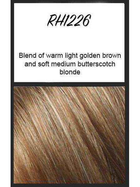RH1226: Blend of warm light golden brown and soft medium butterscotch blonde
