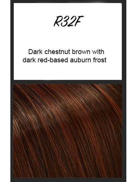 R32F: Dark chestnut brown with dark red-based auburn frost