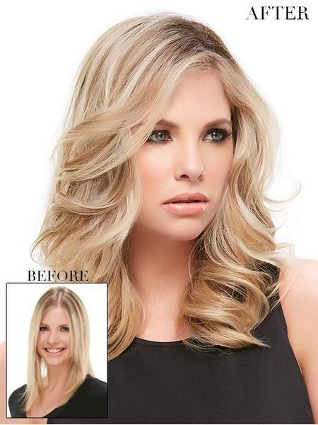 "EasiPart HD XL 12"" by EasiHair, Color: 24B18S8 (Shaded Mocha)"