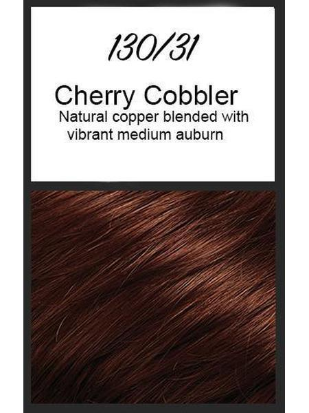 Color swatch showing Jon Renau's 130/31: Cherry Cobbler - natural copper blended with vibrant medium auburn