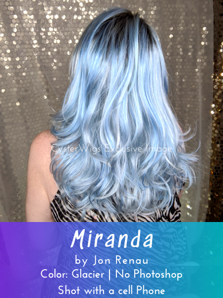Miranda by Jon Renau | Arctic Collection | Icy Fashion Hair Color, Color: FS60/BLS6 (Glacier) -- BEST DEAL!