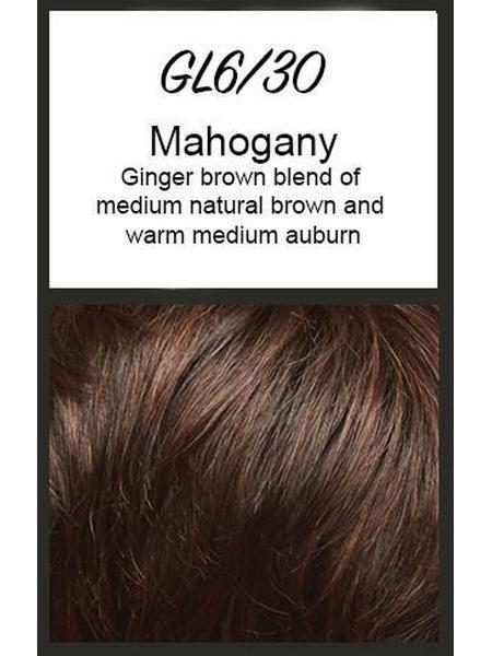 Color swatch showing Gabor's GL6/30: Mahogany - Ginger brown blend of medium natural brown and warm medium auburn