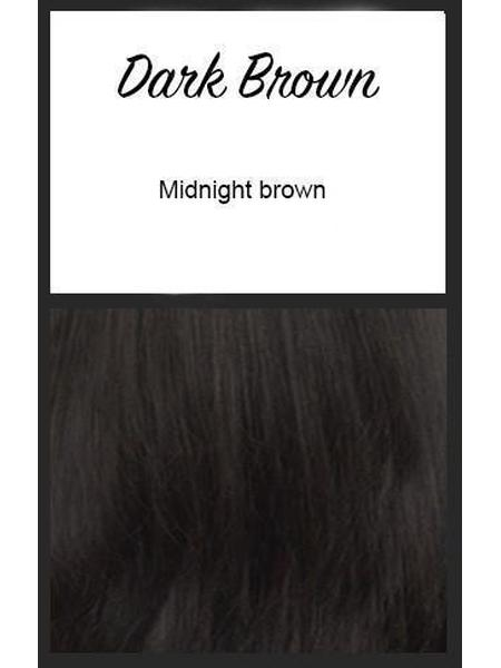 Color swatch showing Envy's Dark Brown: Midnight Brown
