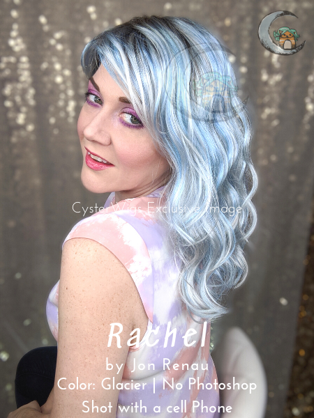 Rachel by Jon Renau | Arctic Collection | Icy Fashion Hair Color, Color: FS38/PLS8 (Flurry)