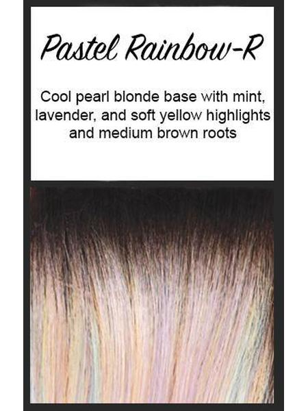 Shane by Rene of Paris Hi Fashion, Color: Pastel Rainbow-R