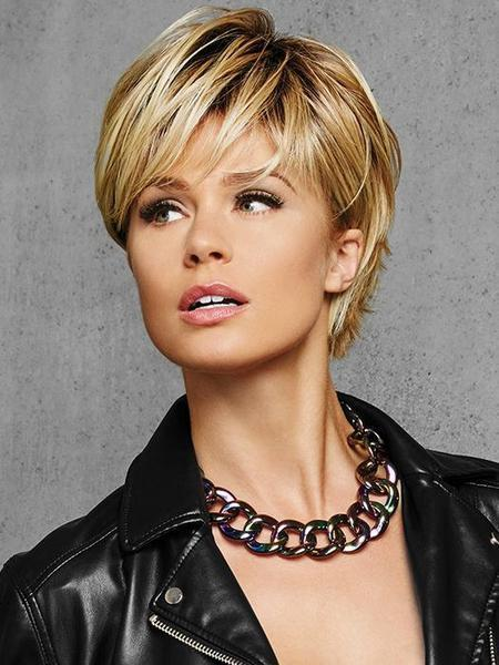 Textured Fringe Bob by HairDo, Color: SS25 (Shaded Ginger Blonde) -- BEST DEAL!