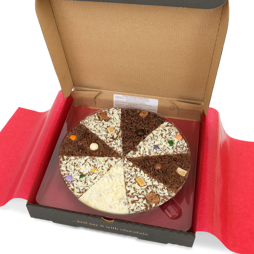 Delicious Dilemma Chocolate Pizza - Burford Sweet Shop