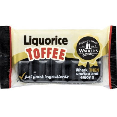 Walkers Liquorice Toffee Slab - Burford Sweet Shop