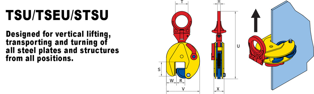 Vertical Plate Clamp | Terrier Lifting Clamp for Vertical Lifts