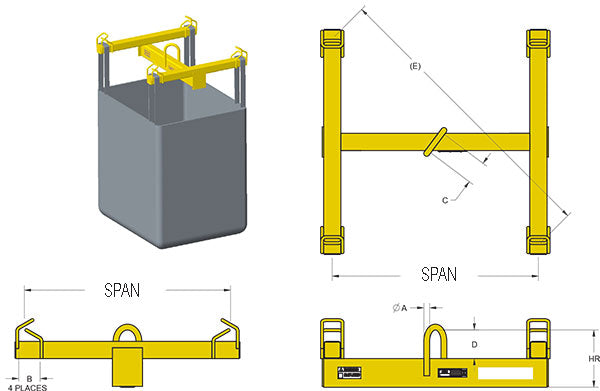 Bulk Container Lifting Beam