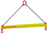 Spreader Beams - Telescoping Adjustable Lift Beam with Chain Sling
