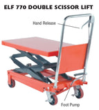 "Light Duty Portable Lift Table, 36"" Travel, Capacities 330-1650 Lbs"