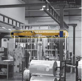 Overhead Workstation Crane in use