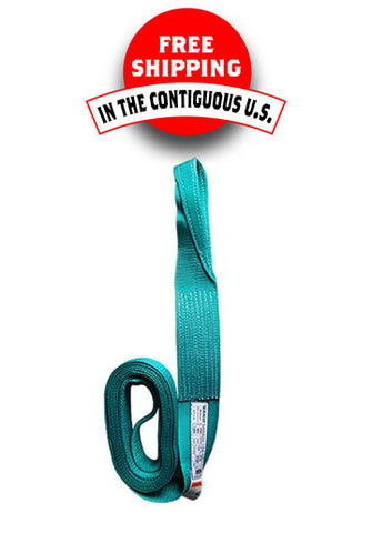 "Flat Eye and Eye Web Slings, 4"" W x 20' L, Cap 4800-12800 Lbs (Only 2 left in stock)"