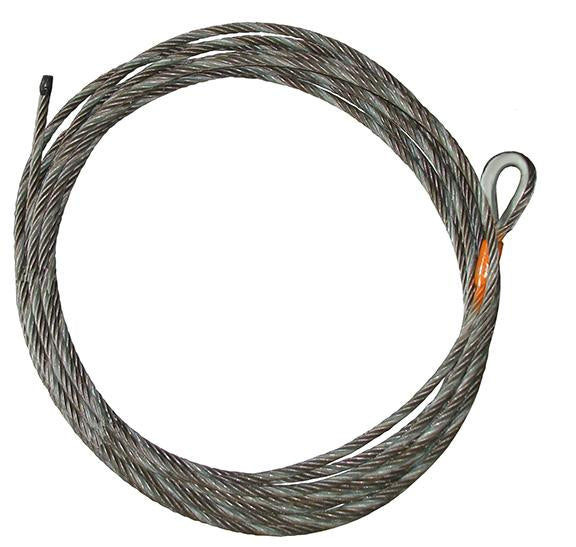 Winch cable without hooks