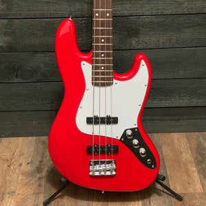 Nashville Guitar Works J-Style Red Electric Bass Guitar w/ Gig Bag