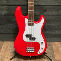 Nashville Guitar Works P-Style Red Electric Bass Guitar w/ Gig Bag