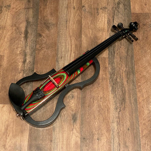 Geneva GVE-N029 Red Swirl Electric Violin Outfit
