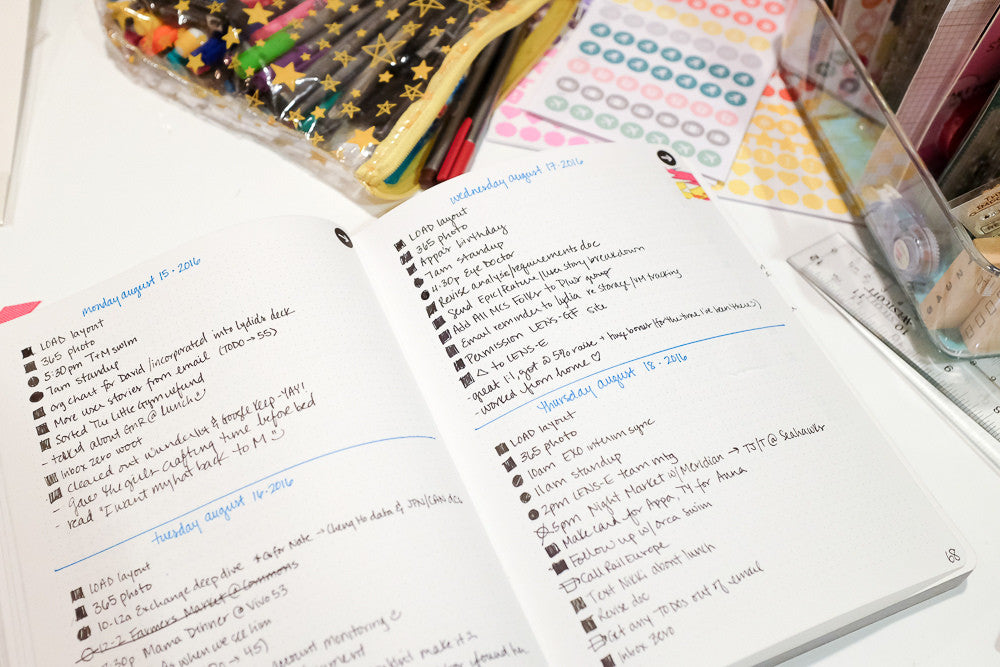 example of a bullet journal notebook