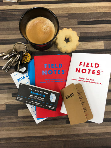 Field Notes Resolution and Coffee