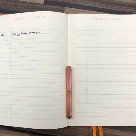 Contents Pages Rhodia GoalBook