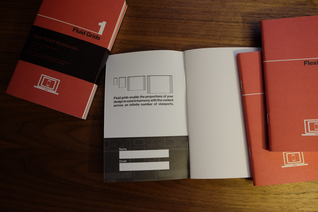 back pocket responsive web design notebooks