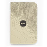 Word Notebooks - Ivory Terrain Ruled Set of 3