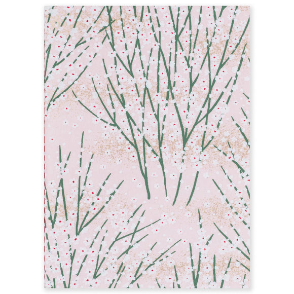 ESMIE Paperback Notebook White Blossom/Pink