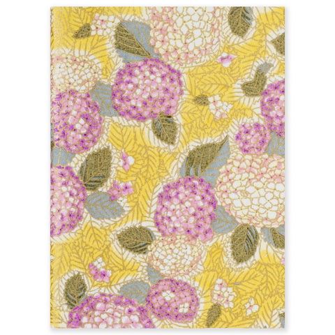 ESMIE Paperback Notebook Purple Hydrangea