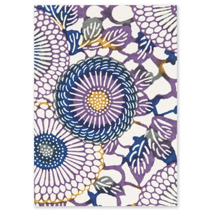ESMIE Paperback Notebook Purple/Yellow Chrysanthemum