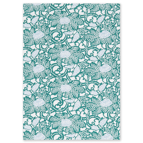 ESMIE Paperback Notebook Blue/Green Anemones