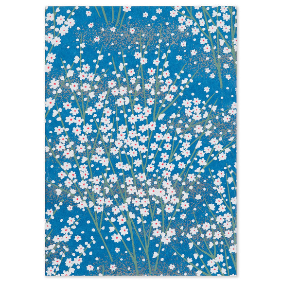 ESMIE Paperback Notebook White Blossom/Dark Blue
