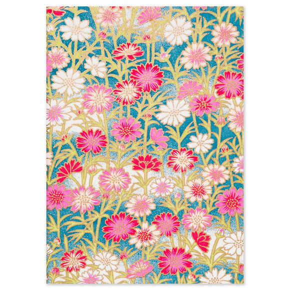 ESMIE Paperback Notebook Red/Pink Daisies