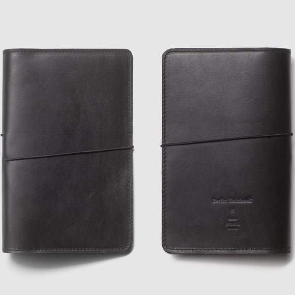 Berlin Leather Notebook Cover - Black
